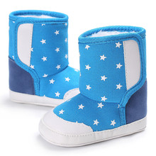 CHAMSGEND New Unisex Stars Baby Soft Sole Snow Boots Soft Crib Shoes Toddler Boots   Sep7 Dropship