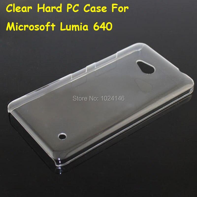 Новый тонкий кристалл прозрачный жесткий PC задняя защитная крышка кожи В виде ракушки для Microsoft Nokia Lumia 640 5.0 дюймов