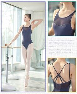 Image 1 - Justaucorps au dos pour femmes, vêtements de danse pour adultes, ensemble Sexy de gymnastique au dos, nouveauté 2020