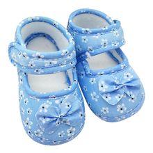 Niemowlę Prewalker Toddler dziewczynki Kid Bowwęzeł Soft Anti-slip szopka buty pierwsze Walkers 0-18 miesięcy gorąca sprzedaż tanie tanio Gumowe Zaczep pętli Węzeł motylkowy Dziewczynka Płótnie Drukowania Wiosna jesień Dziecko First Walkers Wyciąg WEIXINBUY