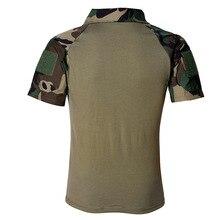 Männer Sommer Armee Kampf Tactical Military Kurzarm Top T-Shirts Jagd Kleidung CP ACU Multicamo TD-JNSZ-006