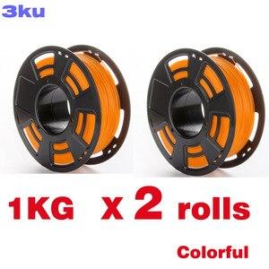 Image 1 - 2 Rolls/Pack One Roll 1Kg Pla Kleurrijke Filament/Spool Draad Reprap 3D Printer 3 Mm Filament
