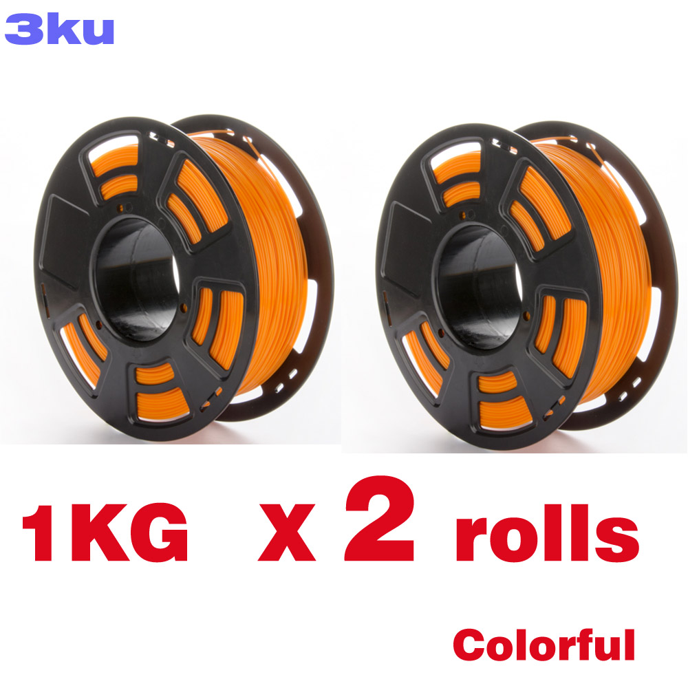 2 Rolls/Pack One roll 1KG PLA colorful filament / spool wire reprap 3D printer 3mm filament-in 3D Printing Materials from Computer & Office