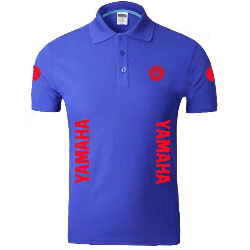 Summer YAMAHA logo Men   Polo   Shirt Brand Clothing Cotton Casual   Polo   Shirt Short Sleeve   Polo   Shirt