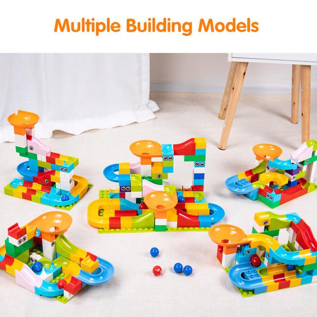 Tumama 52-208Pcs Marble Race Run Maze Balls Track Building Blocks Funnel Slide