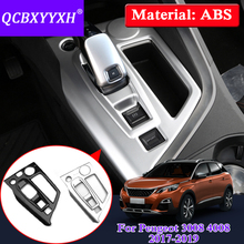 QCBXYYXH Car Styling For Peugeot 3008 2017-2019 Interior Gear Box Protection Cover Decorative Sequins Auto Internal Accessory