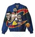3 Цветов Настоящее Размер США Леброн в расцвете сил x Кавальерс 3D Сублимационная Печать На Заказ Куртка На Молнии