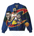 3 Colors Real USA Size Lebron in his Prime x Cavaliers 3D Sublimation Print Custom Made Zipper Up Jacket