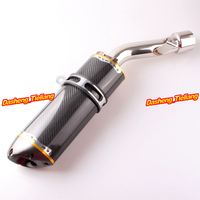 Stainless Steel & Carbon Fiber Exhaust Muffler Silencer for Yamaha FZ1 2006 2007 2008 2009 2010 2011, Aftermarket Top Quality