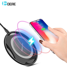 DCAE QI Wireless Charger for iPhone XS Max XR X 8 Plus 10W Fast Charging Pad For Samsung Note 9 S9 S8 USB Quick Charge