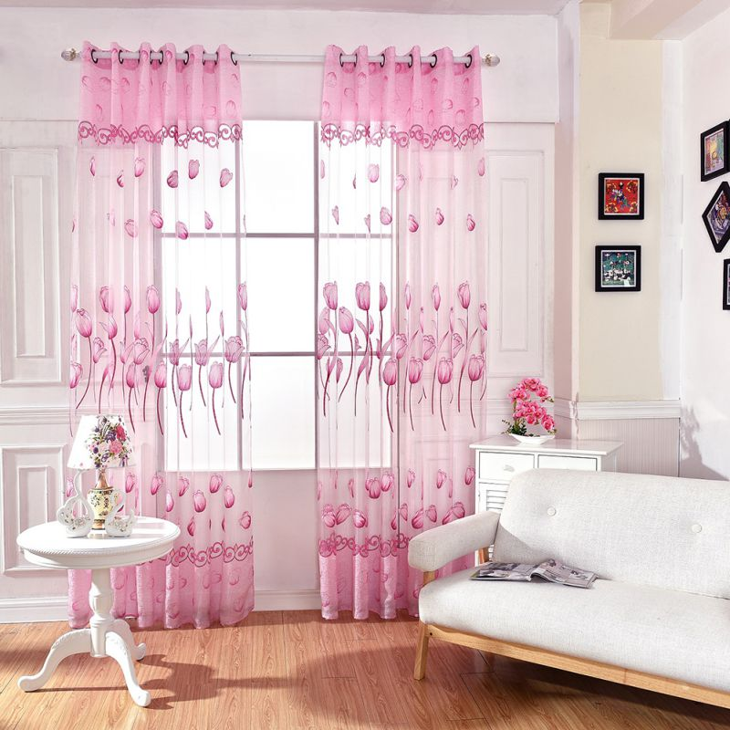 home decor drapes sheer window curtains for living room bedroom ...