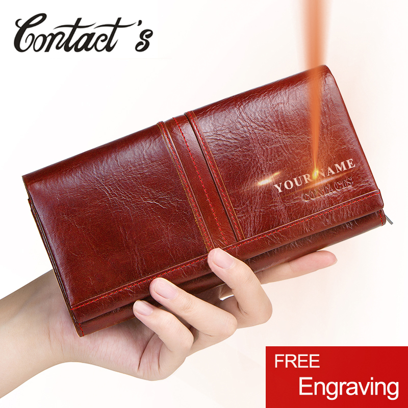 New Fashion Female Handbags Coin Purses Holders Genuine Leather Long Clutch Wallets Card Holder Money Bag With Cellphone Holder