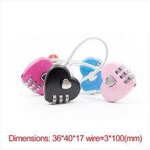 цена на 1 pc Resettable 3 Digit padlock love Code lock Combination Lock Travel Luggage Suitcase Code lock