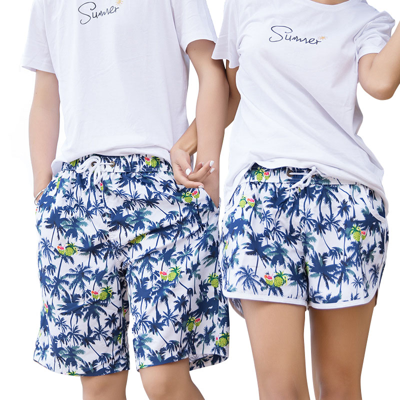 H.S.F.Q Family Beach Surf   Board     Shorts   Swimming Beach Male Beach   Short   Pants Men Couple Women Swimming Trunks Quick Dry Swimwear