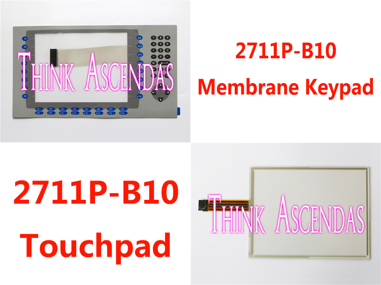 1pcs New PanelView Plus 1000 2711P-B10 2711P-B10C6D1 2711P-B10C6D2 2711P-B10C15B2 2711P-RDB10C Membrane Keypad / Touchpad touch glass touch screen panel new membrane keypad film keypad switch for 2711p b10c4a8 panelview plus 6 1000