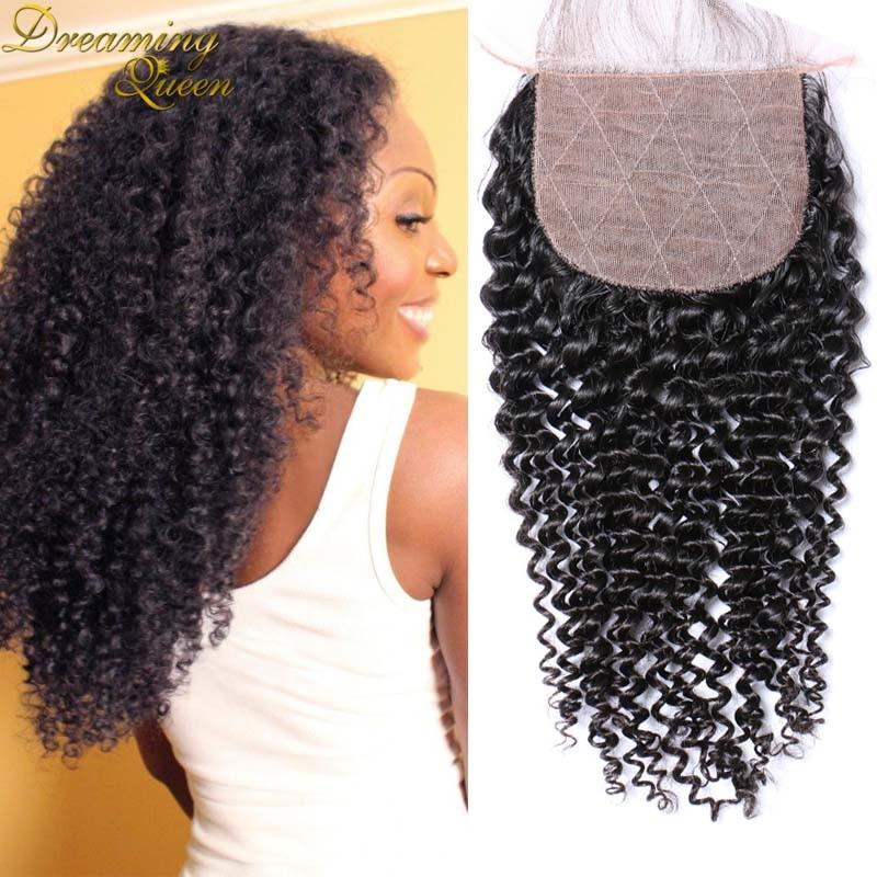 ФОТО Top Quality Silk Base Closure Kinky Curly Virgin Human Hair Silk Closures With Baby Hair Free Middle 3 Part Silk Hair Closure