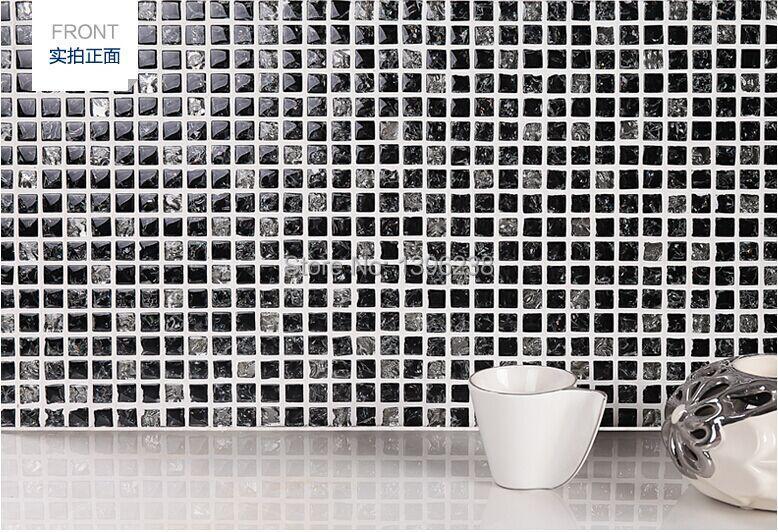 Популярные черные лед трещина мозаика кристалл стеклянная мозаика обои кухня щитка душ Home Книги по искусству обои, бесплатная доставка,