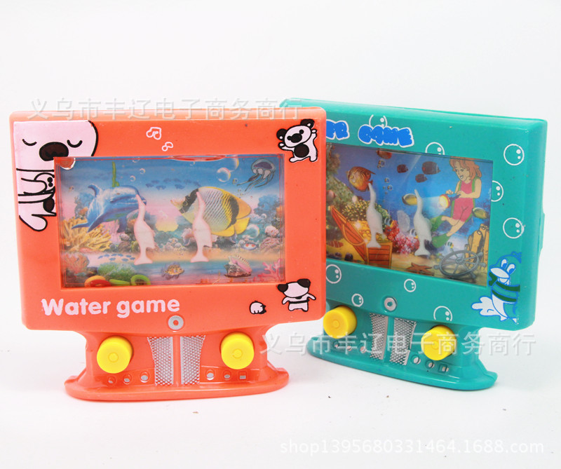 Hot kids toys interesting bathing circle sets toys kawaii TV shaped handheld game consoles educational toddler