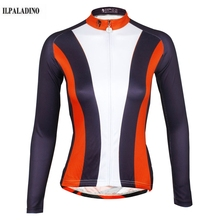 ILPALADINO 2017 New Team Wear Ropa Ciclismo Cycling Jersey Women Bike Bicycle Long Sleeve Breathable Clothing Shirts S-XXXL