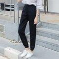 2016 New Plus Size Women Jeans Mid Waist Woman Harem Pants Summer Denim Jeans Pants Light Washed Loose Cotton Haren Trousers