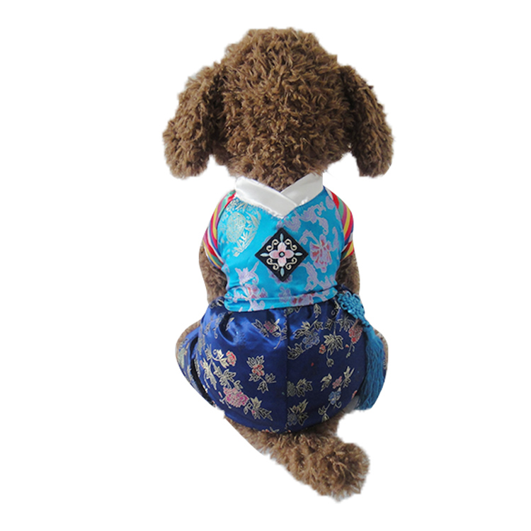 New Korea Classic Embroidery Four Legs Pet Dogs Coat Boy Dogs Clothes New Clothing For Puppy Dog