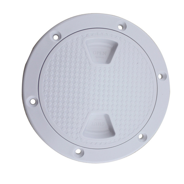 4″ 6″ 8″ ABS Plastic Round Hatch Cover Deck Plate Non Slip Deck Inspection Plate for Marine RV yacht Boat Accessories White