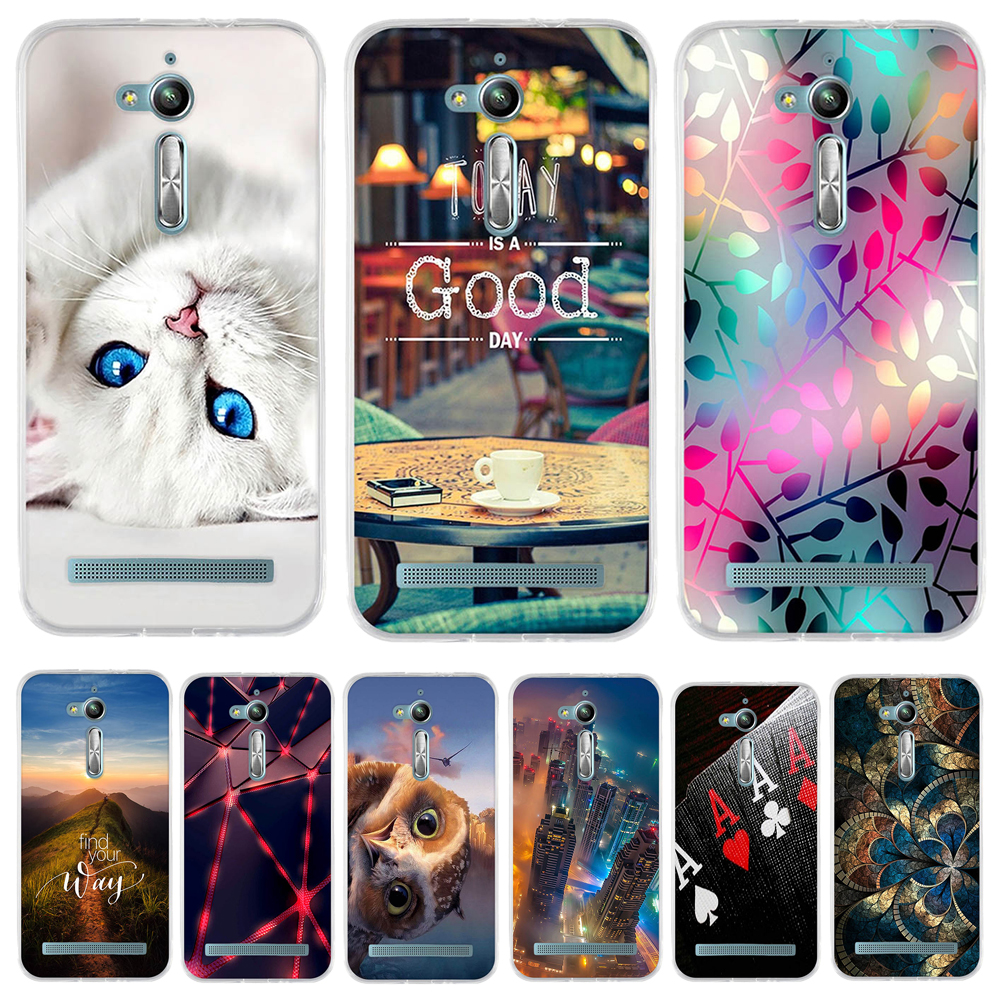 For Asus Zenfone Go ZB500KL ZB500KG Case Silicone Back Cover For Asus Zenfone Go ZB500KL X00ad Phone Case For Asus ZB500KL Case