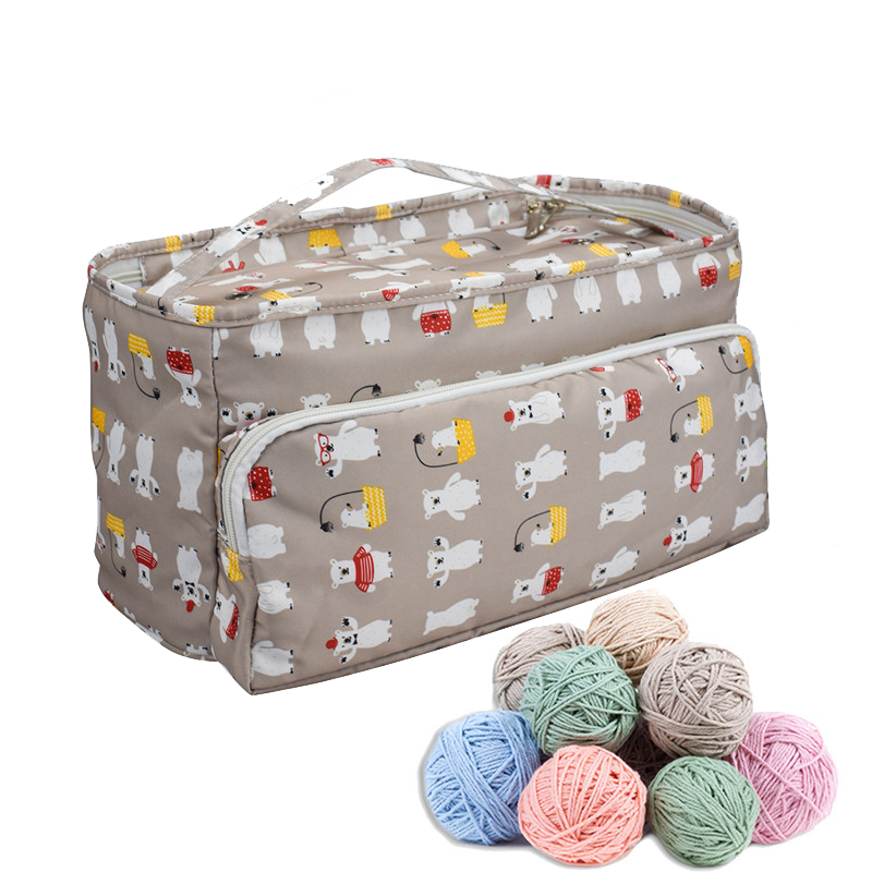 New 6 Styles Yarn Storage Tote Knitting Bag Women Travel Organizer for Crochet Hooks Needles Sewing Tools Case
