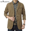 Brand New Blazer Men Casual Blazers Cotton Denim Mens Slim Fit Suit Jackets Army Green Khaki Plus Size 13M0513