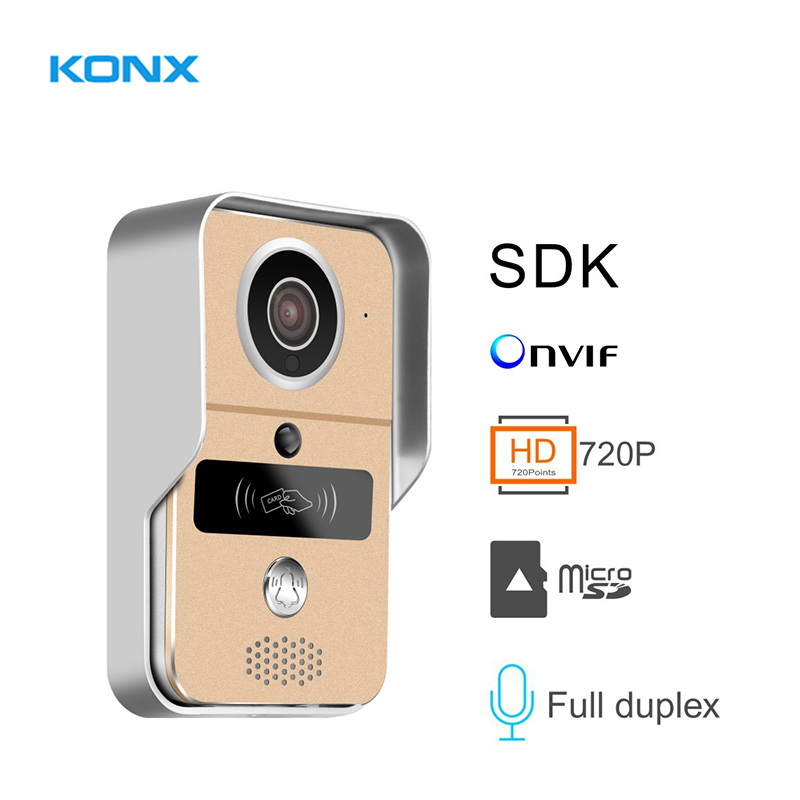 KW02C Smart Wireless WIFI Video Doorphone With MicroSD Fully Duplex Intercom, Unlock, ,IR Night Vision Supports PC Of Windows