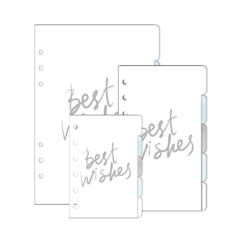 2017 Dokibook Notebook Acessórios Bonito Floco De Neve Série Divisores A5 A6 A7 Papers 5 pçs / set para Organizador Planejador Presentes