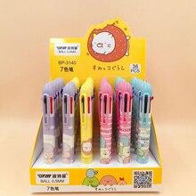 36Pcs/lot Cute Sumikko Gurashi 7 Color Ballpoint Pen Kawaii Ball for Kids Gift Promotion Material Escolar School Supply