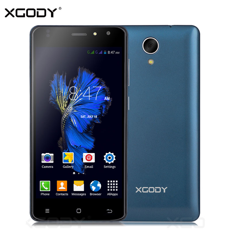 XGODY 5.0 Pulgadas Smartphone 1 GB RAM 8 GB ROM Quad Core 1280x720 P Android 6.0