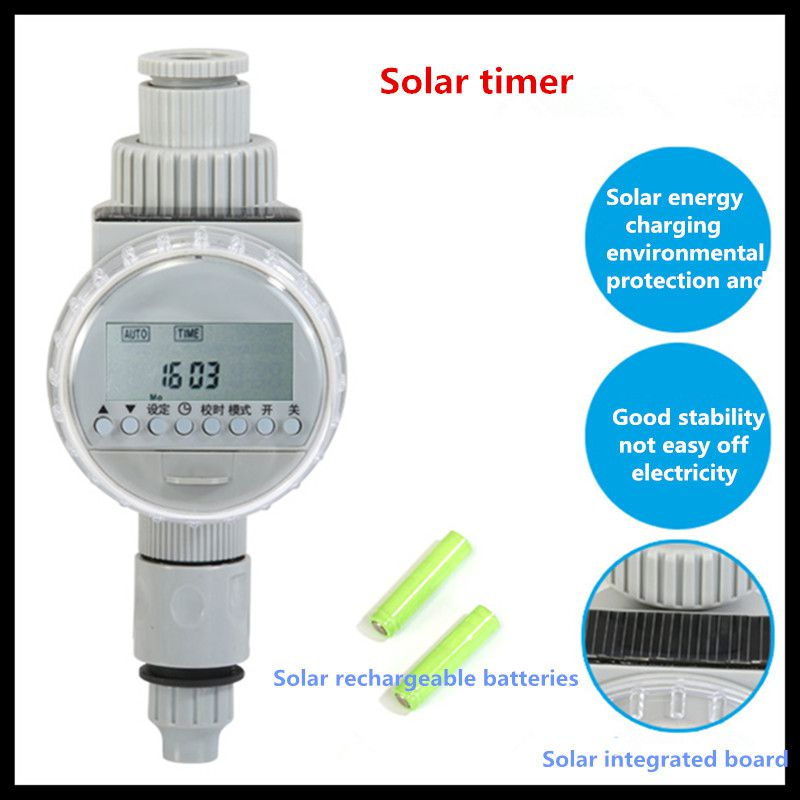 все цены на Micro-spray automatic spray smart timer (solar timer plus connector) automatic timer irrigation timer watering controller онлайн