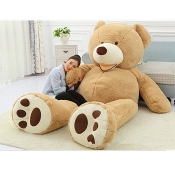 цена на Wholesale Real Life Super big Giant American Big Bear Oversize Teddy Bear Gift for Girls Birthday Gift for Girlfriend Kids Toys