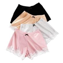 Сексуальные кружевные шорты, женские домашние штаны, хлопок, мягкие домашние шорты, пижамы, повседневные штаны для женщин