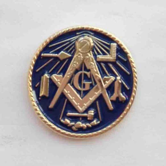 US $75 0  M224 Custom pin Wholesale 100pcs freemasonry brooches masonic  lapel pin Delux Working tools Master Mason Large Pin-in Brooches from  Jewelry