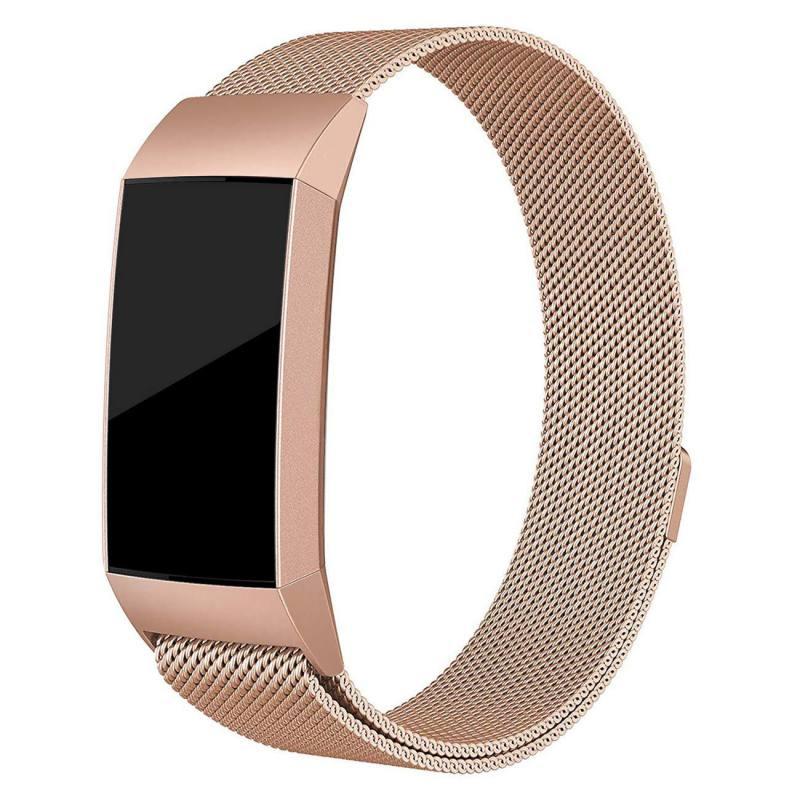 dd7cdbbbf04f Pulsera magnética de acero inoxidable milanesa bandas de repuesto para  Fitbit charge3 correas correa de muñeca para Fitbit charge 3 Fitness