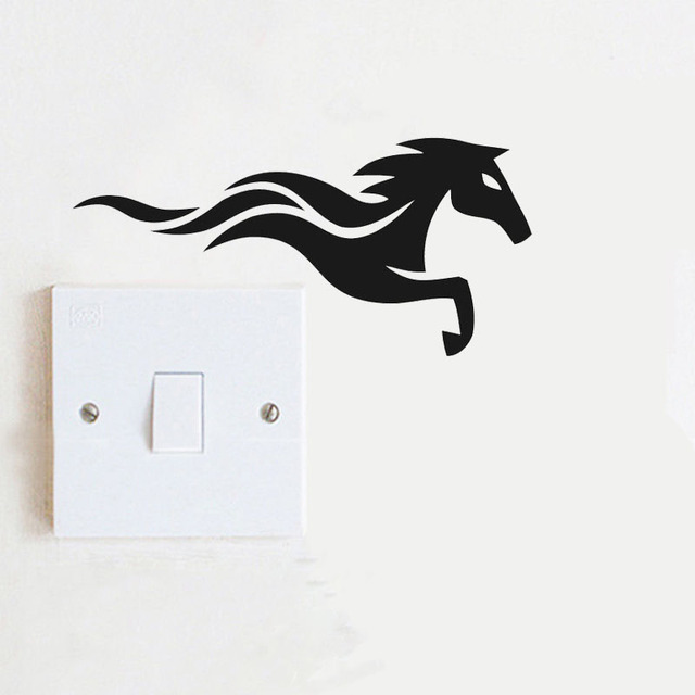 Running Horse Kitchen Animal Wall Abstract Decal Decor Vinyl Cartoon Nice  Switch Sticker 8SS 0469