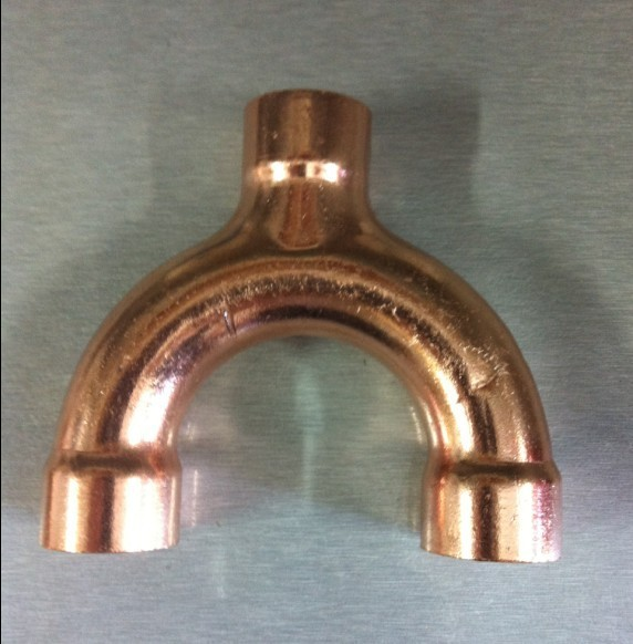 22mm hvac equal welding copper y type tee fittings for Copper water pipe fittings types