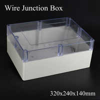 IP65 320x240x140mm Clear Cover ABS Transparent Plastic Electronic Project Waterpoof Wire Junction Box Sealed Enclosure Case