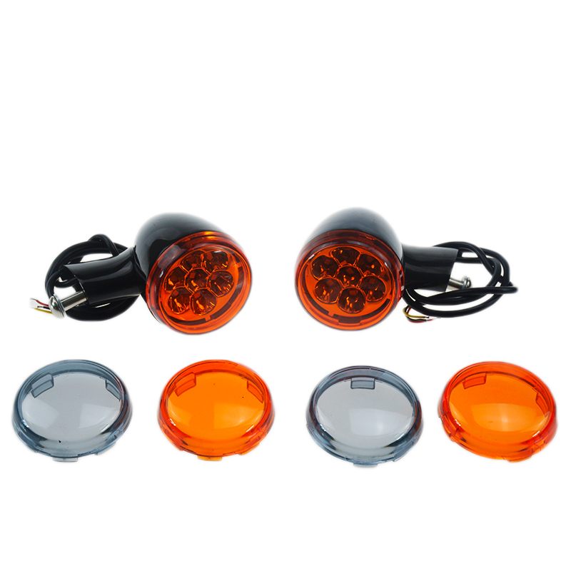 New One Pair Black Motorcycle Rear LED Turn Signal Indicator For Harley Sportster XL 883 L1200 Sportster 1992-2017 mtsooning timing cover and 1 derby cover for harley davidson xlh 883 sportster 1986 2004 xl 883 sportster custom 1998 2008 883l