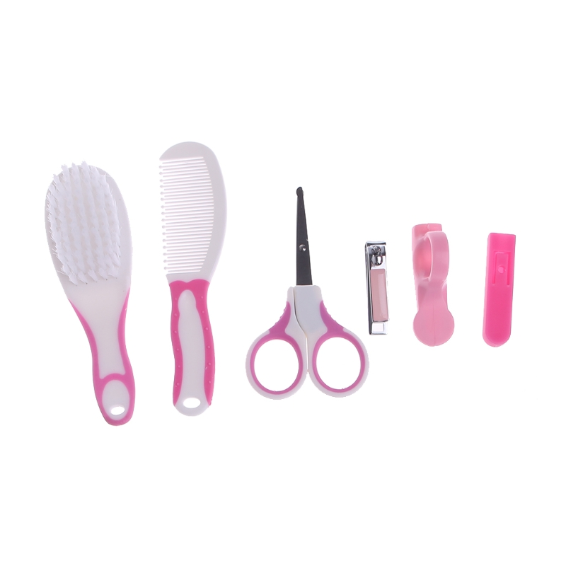 6PCS/Setborn Baby Kids Manicure Nail Hair Health Care Grooming Brush Kit 328 Promotion %312