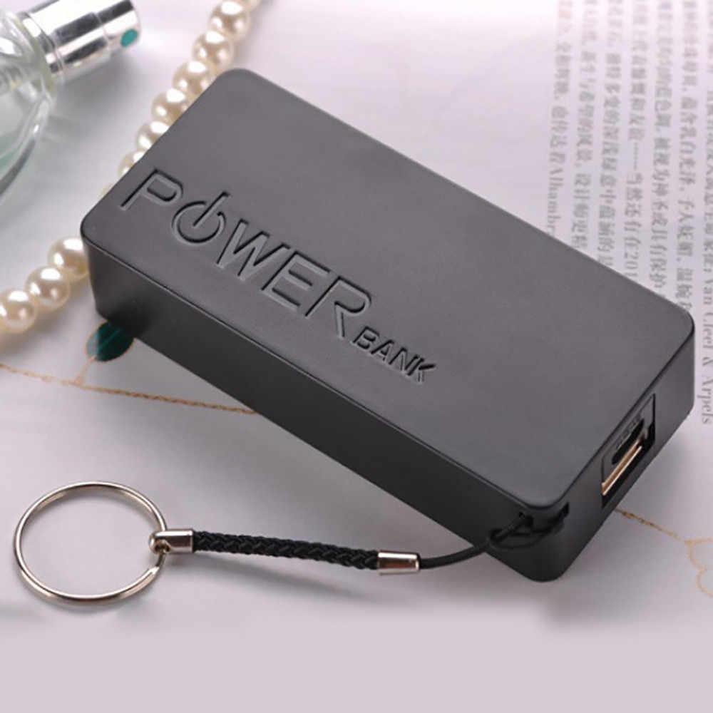 شاحن بطارية علبة صندوق شحن بنك الطاقة 5600mAh 2X18650 USB موبايل قوة جراب لشاحن البطارية الاحتياطية للهاتف للشحن لتقوم بها بنفسك صندوق