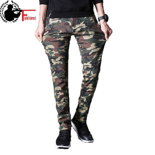 8c99ee44cd206 Mens Winter Warm Cargo Pants Military Style Camo Fashion Slim Fit Male  Trousers Thick Fleece Camouflage