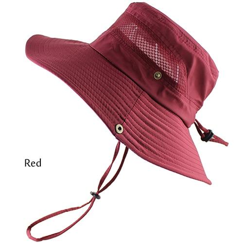 1cb06dbf6b5 Dropwow UPF 50+ Bucket Hat Summer Men Women Fishing Boonie Hats UV ...