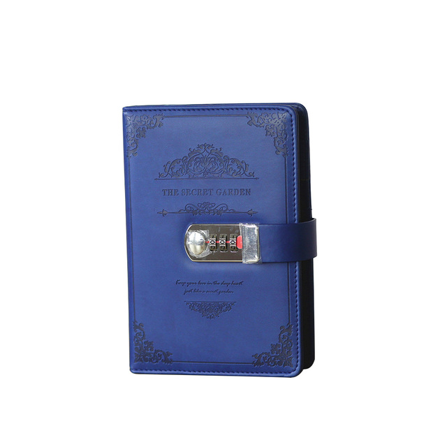 Papelería estilo retro Agenda suministros estudiantes escuela Oficina negocios regalos vintage hilo instalado Bloc de notas con contraseña diario con candado
