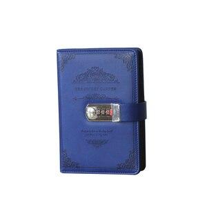 Image 1 - Retro Schreibwaren Tagesordnung Liefert Studenten Schule Büro Business Vintage Geschenke Gewinde Installiert Passwort Notebook Lock Tagebuch