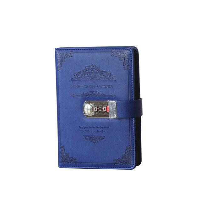 Retro Schreibwaren Tagesordnung Liefert Studenten Schule Büro Business Vintage Geschenke Gewinde Installiert Passwort Notebook Lock Tagebuch
