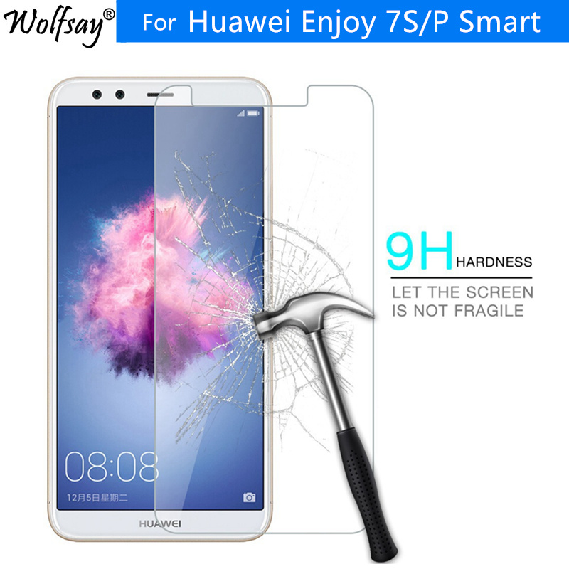 Galleria fotografica 2PCS For Tempered Glass Huawei P Smart Screen Protector Anti-Explosion Film For Huawei P Smart Glass For Huawei Enjoy 7S Glass